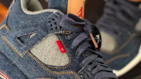 The Levi's x Air Jordan 4 Denim